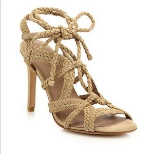 Joie Tonni Lace Up Sandals In Buff